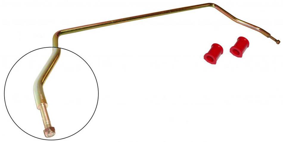 Stabilizátor přední HD/červený uretan/kit - T.1 1302/03 (1970 » 73)