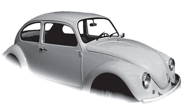 Skla dveří plná čirá/kit - Typ 1 (1964 » 03)