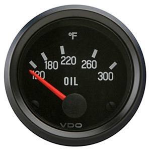 Přístroj černý/teplota oleje/300°F (Ø 52mm)