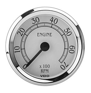 Přístroj Royale bílý/otáčkoměr 7000 RPM (Ø 79mm)