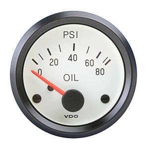 Přístroj bílý/tlak oleje/80 PSI (Ø 52mm)