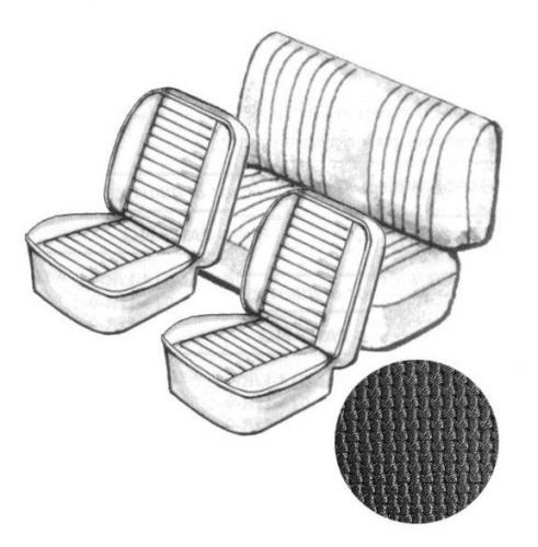 Potahy sedadel/černý vinyl/kit - Typ 1 (1976 »)