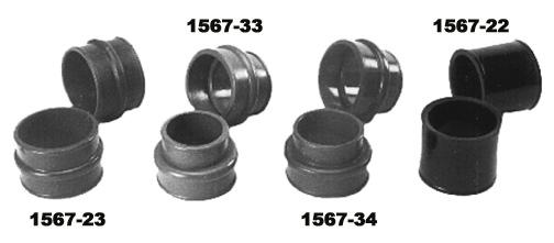 Manžety sání dual/41.3mm/červený uretan - Typ 1/3 motory (1970 »)