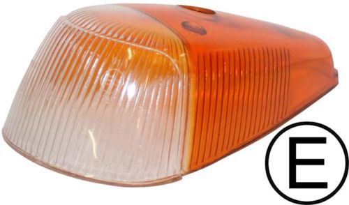 Sklo směrového světla/přední oranž/čiré - Typ 1/181 (1963 » 74)
