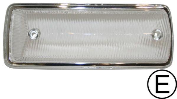 Sklo směrového světla čiré/přední L - Typ 2 (1967 » 72)