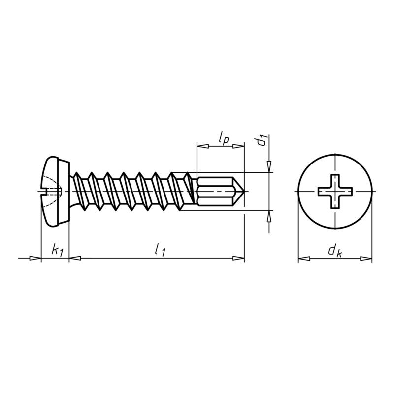 Šroub samořezný/SPZ - Typ (univerzál)