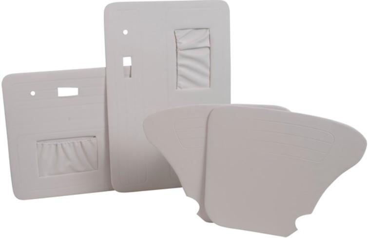 Panely dveří bílé/kit - Typ 1 (1966 » 03)