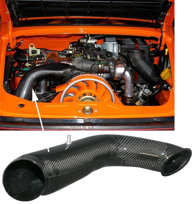 Potrubí chlazení/karbon - Porsche 911/964 (1988 » 94)