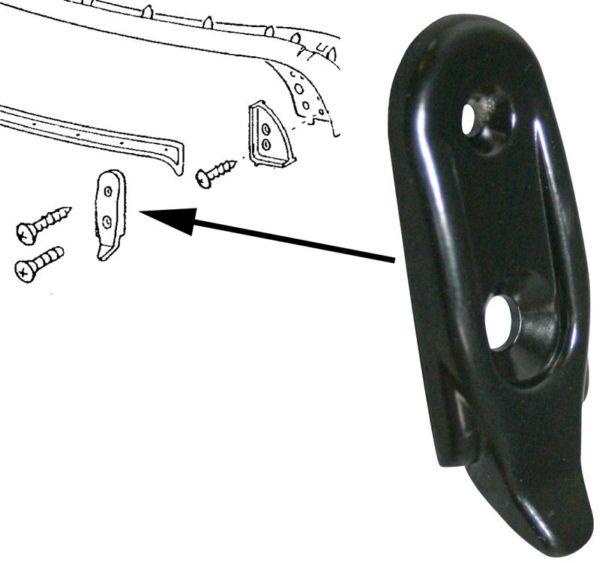 Vedení rámu střechy/přední L/P - T.1 1303 Cabrio (1972 » 80)