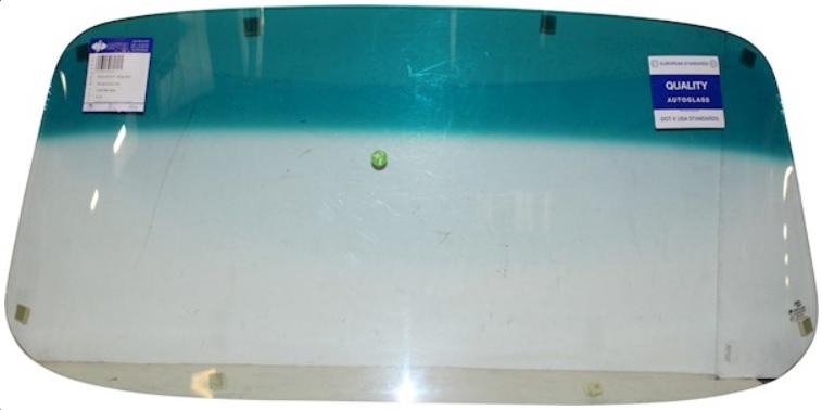 Sklo čelní zelené/zelený pruh - T.1 1303 (1972 » 79)