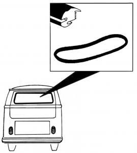 Těsnění skla plné OE/zadní - Typ 2 (1952 » 63)