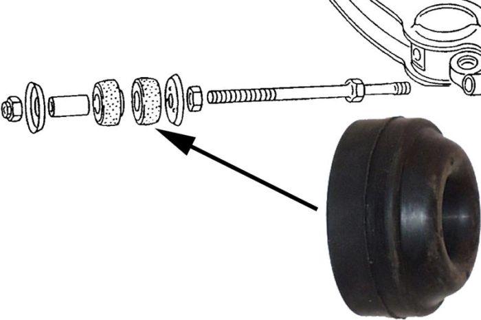 Pouzdro spodní/přední rameno L/P - Typ 25 (1979 » 92)