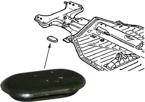 Průchodka trubky paliva/přední - T.1 1302/03 (1970 » 80)