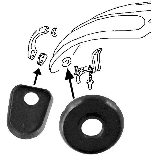 Těsnění madla přední kapoty/černé - Typ 1 (» 1967)