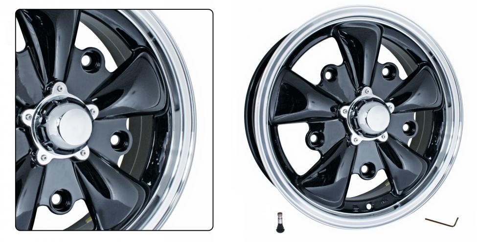 Kolo EMPI GT-5/černé 5x205mm ET +20 (5.5x15)