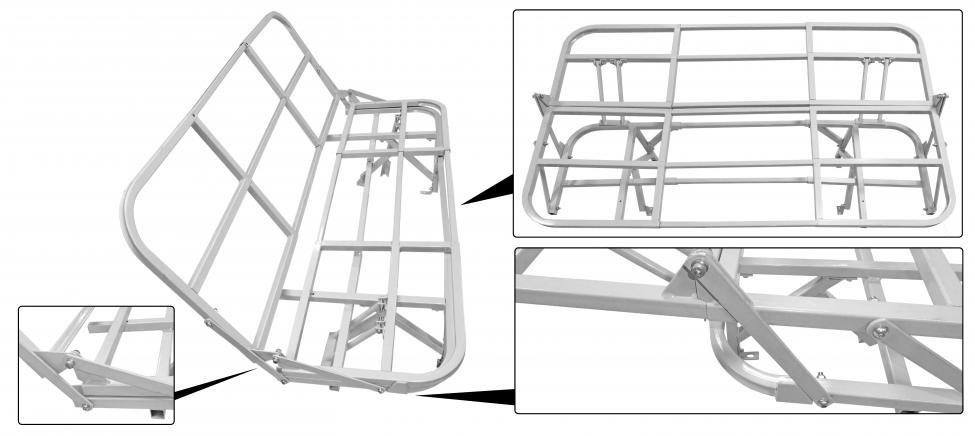 Konstrukce postele/zadní - Typ 2 (» 1979)