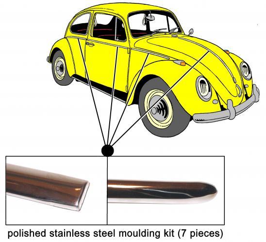 Lišty karosérie S/S kit - Typ 1 (1962 » 66)