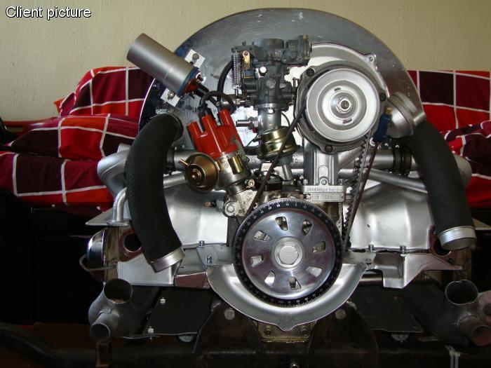 Řemenice klikové hřídele Alu/černá stupnice - Typ 1 motor (1960 »)