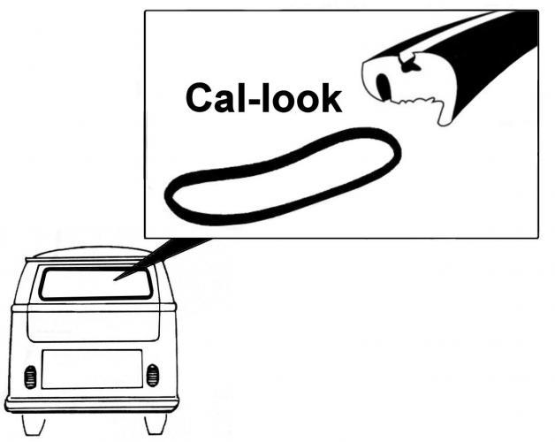 Těsnění skla Cal Look/zadní - Typ 2 (1963 » 79)