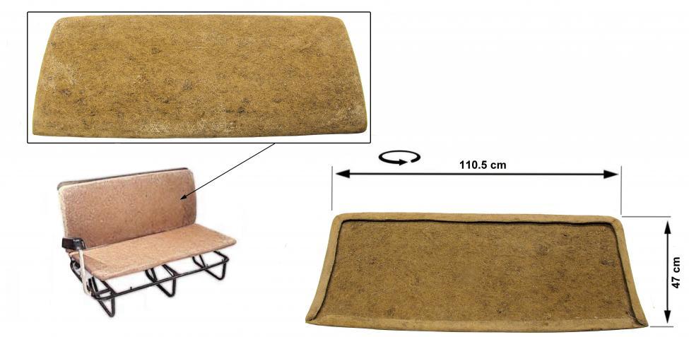 Opěrák sedadla/střední - Typ 2 (1955 » 79)