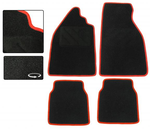 Koberce podlahy černé/červený lem - Typ 1 (» 2003)