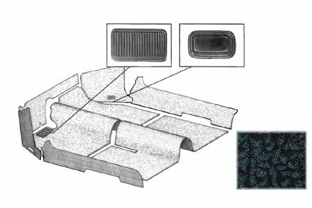 Koberce podlahy/černé - Typ 1 Cabrio (1957 » 70)