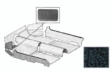 Koberce podlahy/černé - T.1 1303 Cabrio (1972 » 80)