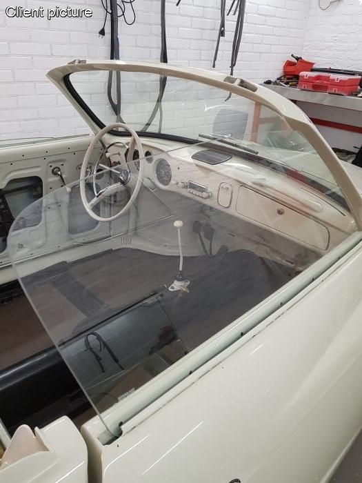 Sklo dveří čiré/P - Typ 14 Cabrio (» 1959)