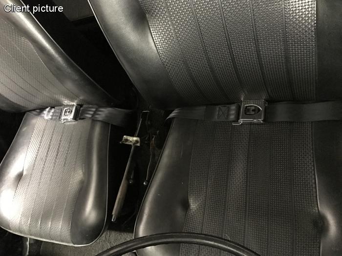 Pásy bezpečnostní břišní/černé/znak Wolfsburg - Typ 1/2/3/14/181 (1964 »)
