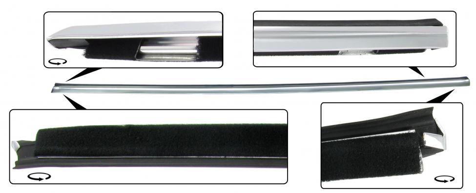 Sametka stahování skla+lišta/vnější L - Typ 14 (1971 »)