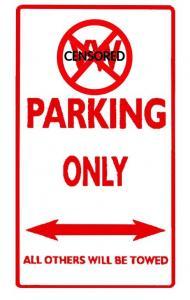 Cedule parkovací/Alu (VW PARKING ONLY)