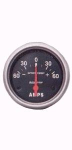 Přístroj černý/ampérmetr 60Amp (Ø 52mm)