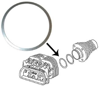 Podložky hlavy motoru/1.525mm - Typ 1/3/CT motory (83.0/85.5/87.0/88.0mm)