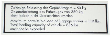 Samolepka/střešní nosič - Typ (» 2003)