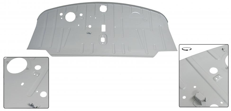 Panel podlahy/kabina - Typ 2 (1967 » 72)