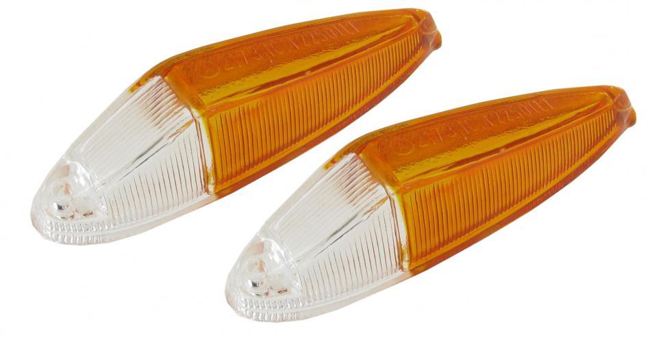 Skla obrysových světel/přední čirá/oranžová - Typ 3/34 (1961 »)
