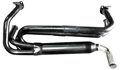 Výfuk singl ECONOMY černý/kit - Typ 1 motor (1.2-1.6)