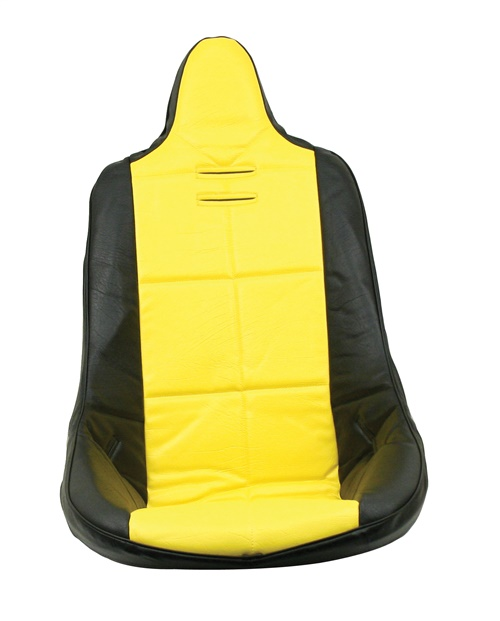 Potah sedadla černo/žlutý vinyl - T.1 Buggy/Baja (#62-2300#7521)