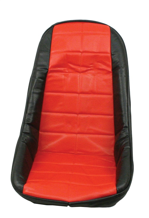 Potah sedadla černo/červený vinyl - T.1 Buggy/Baja (#7520)
