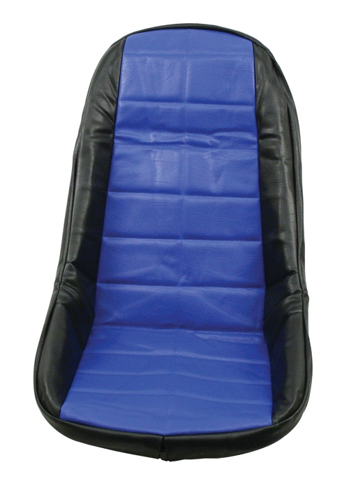 Potah sedadla černo/modrý vinyl - T.1 Buggy/Baja (#7520)