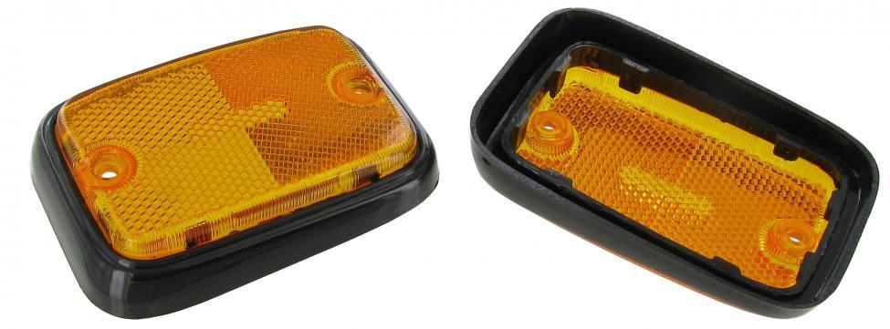 Odrazka boční žluto/černá/přední - Typ 2 US (1969 » 79)