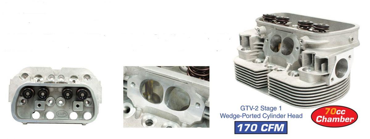 Hlavy motoru EMPI GTV-2/I dual/komplet - Typ 1/3/CT/CZ motory (40x35.5x92mm)
