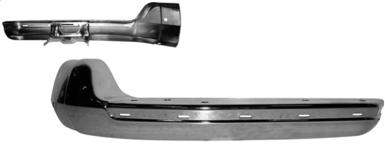 Nárazník přední/chrom/boční L - Typ 2 (1967 » 72)