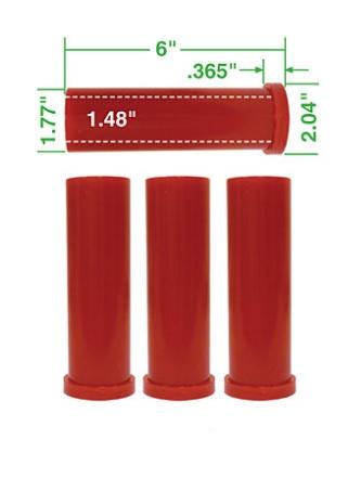 Pouzdra ramen přední 152mm/červený uretan - T.1 Buggy (#16-2045#16-2046)
