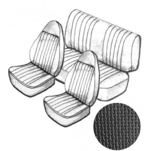 Potahy sedadel EMPI/černý vinyl/kit - Typ 1 (1972 » 73)