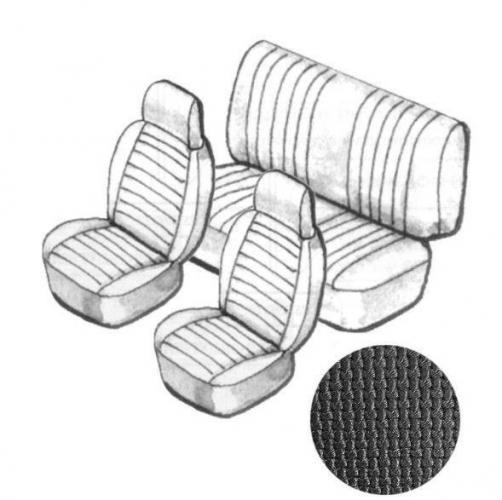 Potahy sedadel EMPI/černý vinyl/kit - Typ 1 (1973 » 76)