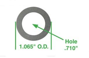 Podložky hřídele vahadla/0.254mm - Typ 1/3/CT/CZ/WBX motory (1960 »)