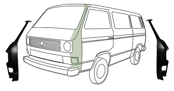 Sloupek-A přední/L - Typ 25 (1979 » 92)