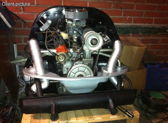 Hadice chlazení motoru Alu/50x300-900mm - Typ 1 motor (1963 »)