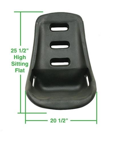 Sedadlo/černý polyetylén - T.1 Buggy/Baja (univerzál)
